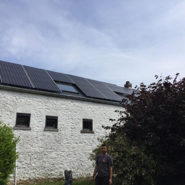 pose de panneaux solaire toiture